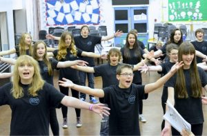 Mid Cheshire Youth Theatre in rehearsal